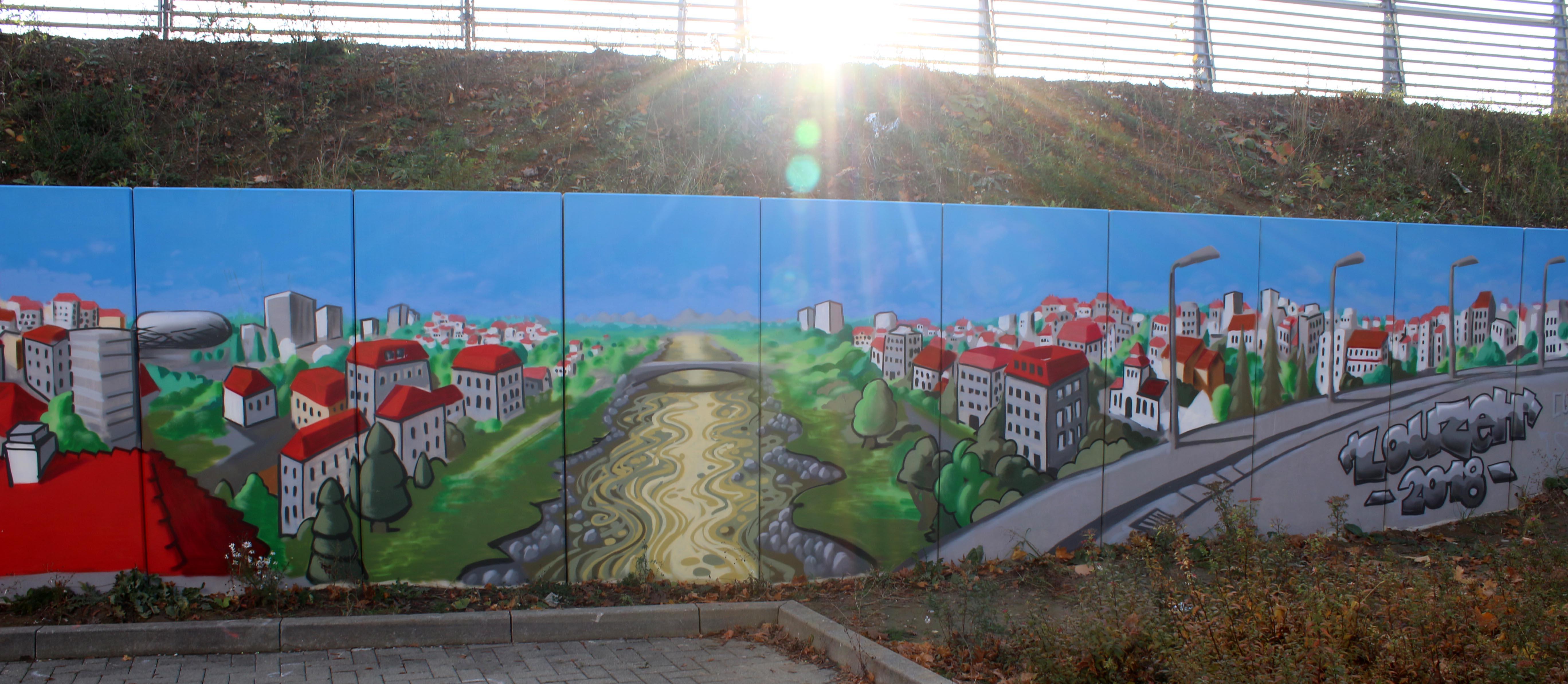 augsburg louzeh lou zeh graffiti ibis budget big mural wertach fca