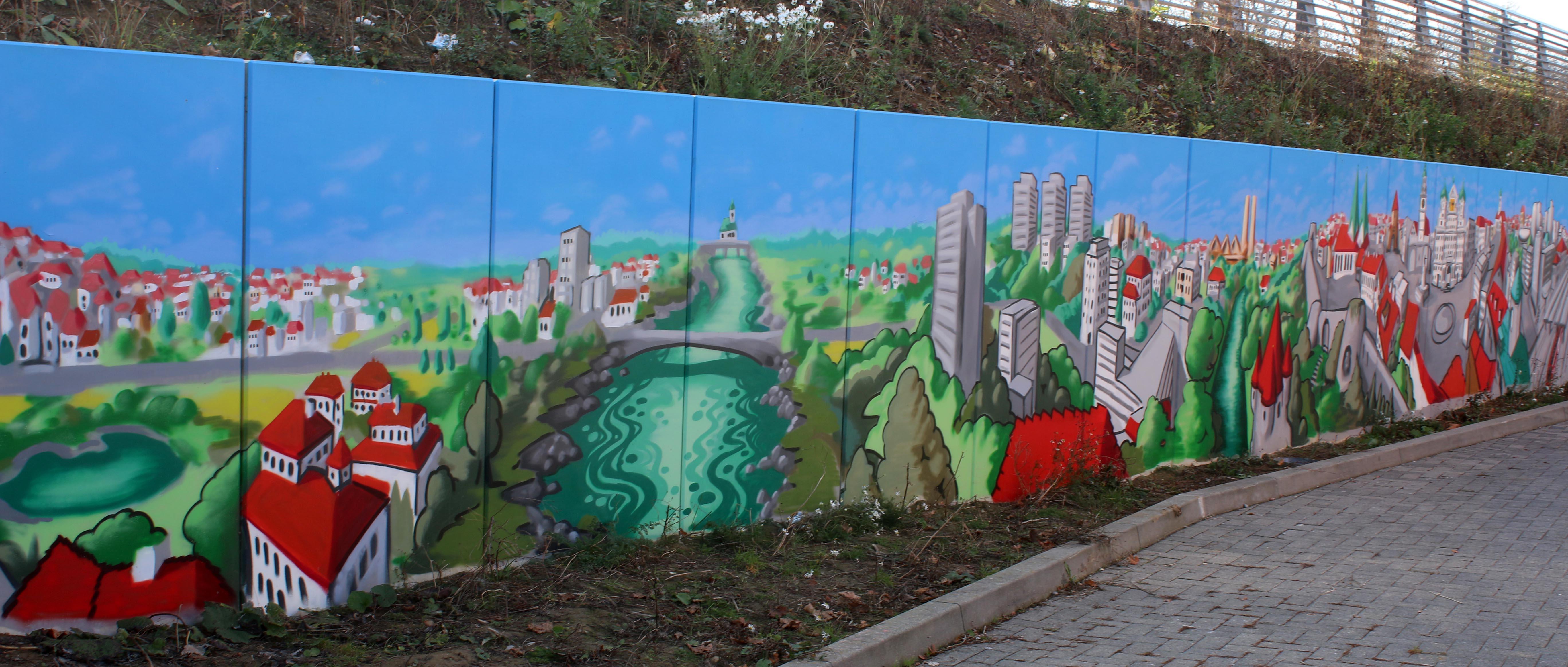 augsburg louzeh lou zeh graffiti ibis budget big mural lech hochablass
