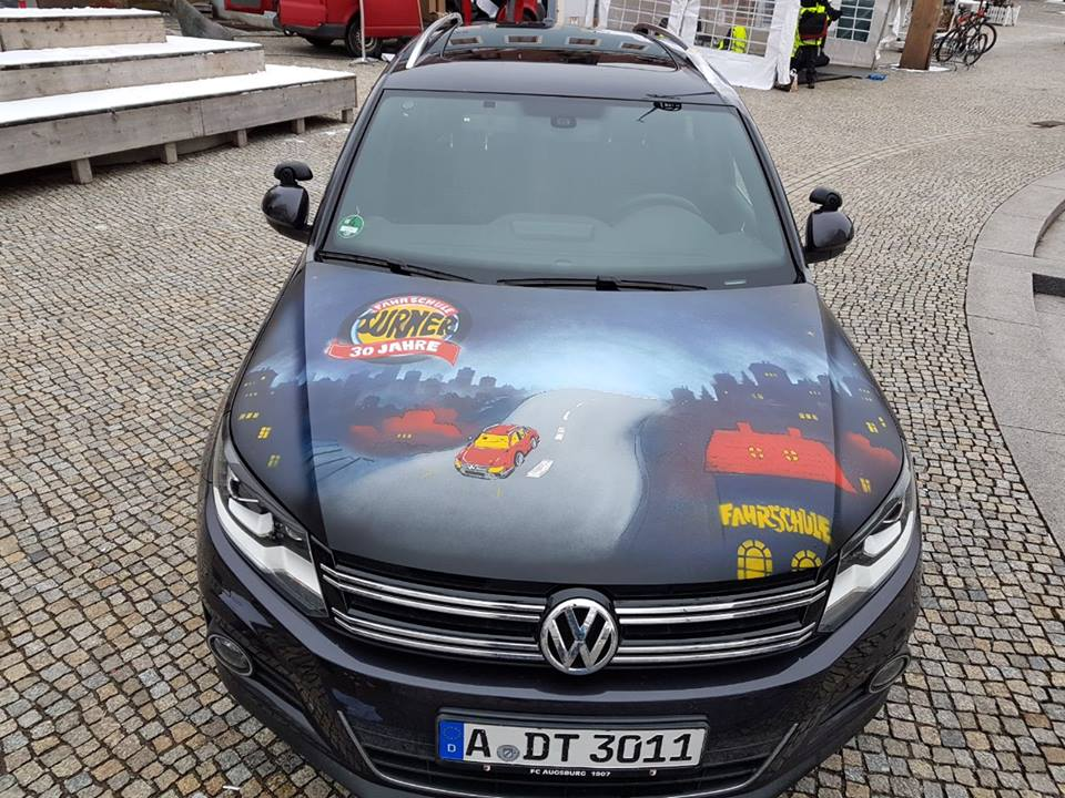 louzeh lou zeh car graffiti driving school