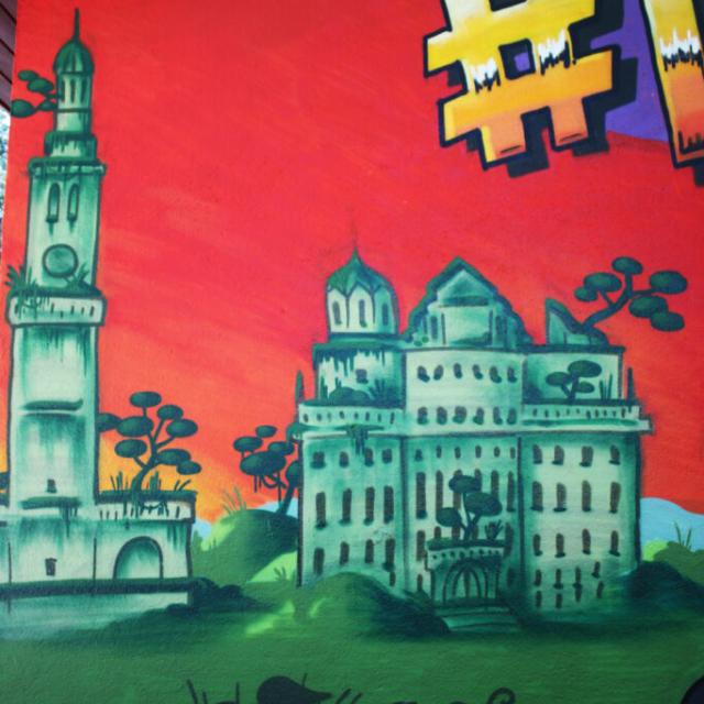 graffiti rathaus augsburg perlachturm ruin ruine sunset djungle louzeh lou zeh augsburg