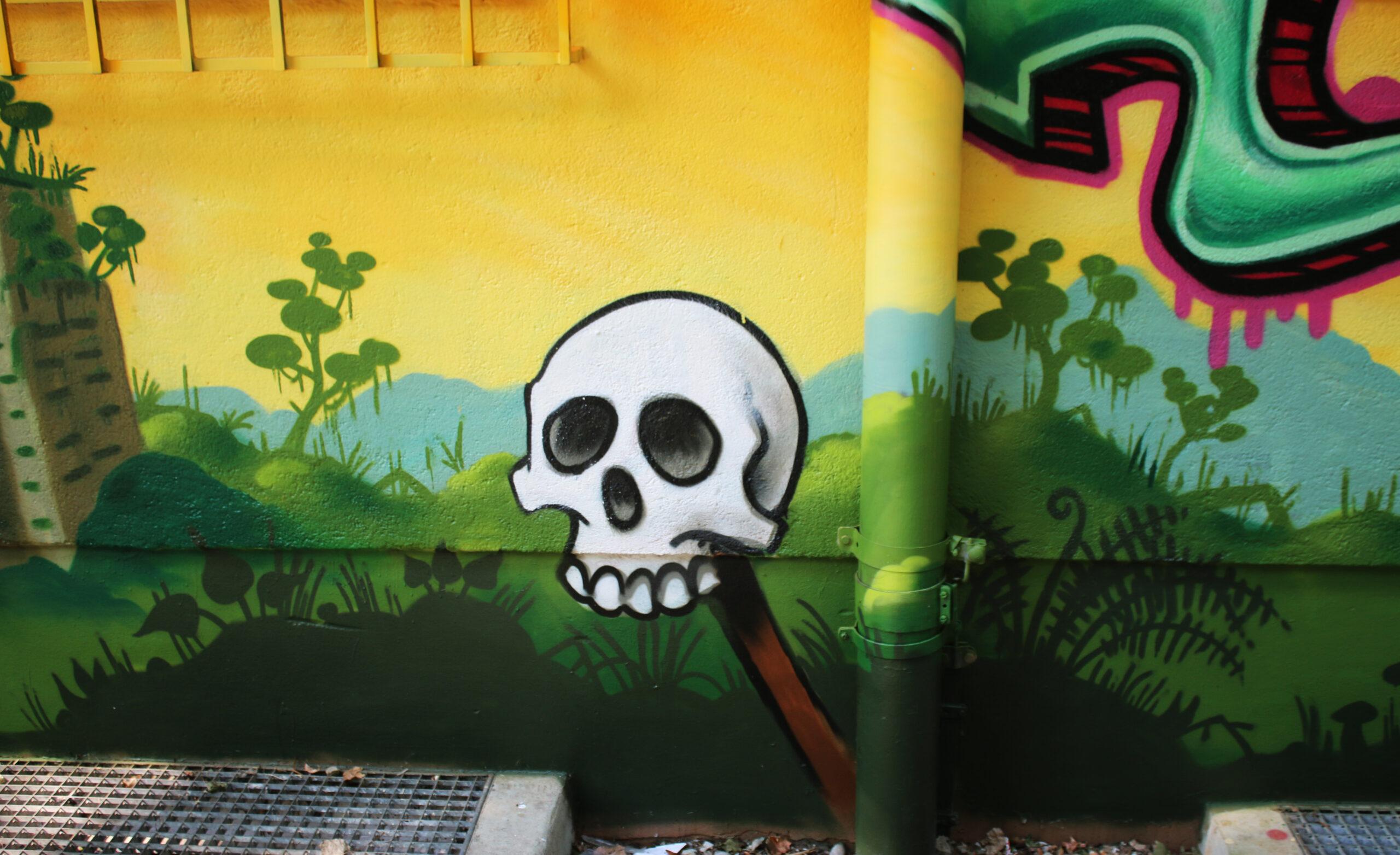 graffiti skull jungle louzeh lou zeh augsburg hochfeld