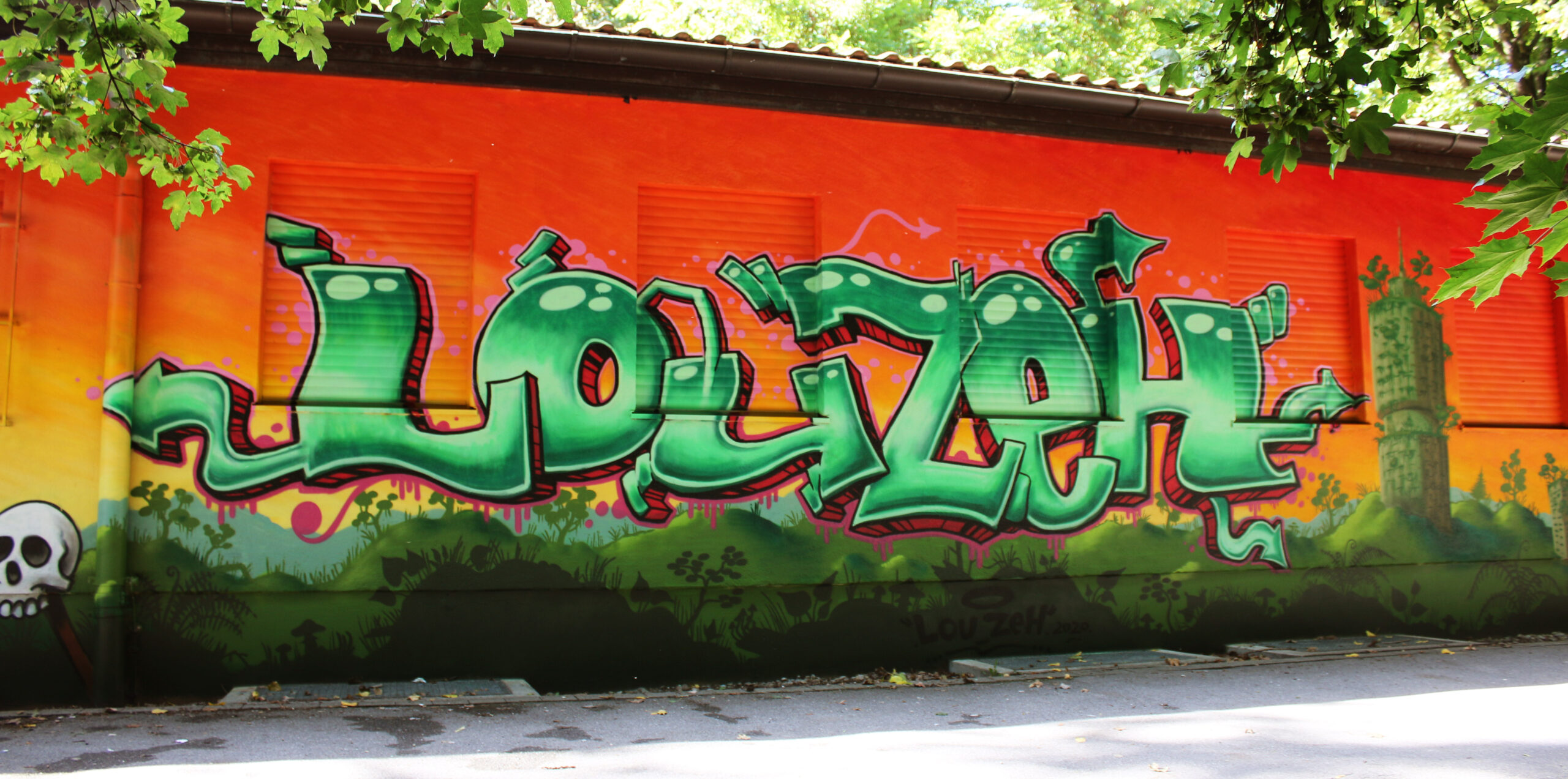 graffiti jungle tower lou zeh louzeh hotelturm augsburg hochfeld mural skull